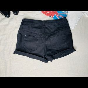 Black vintage three button high waisted shorts.